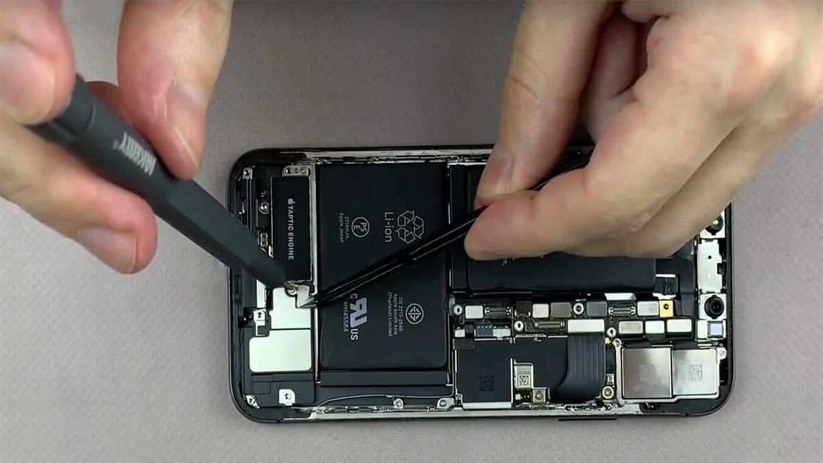Замена голосового динамика на iPhone X