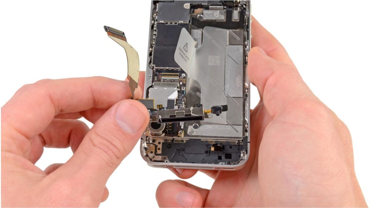 Замена шлейфа микрофона на iPhone 4